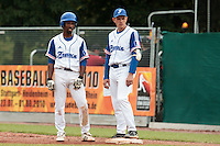 27 july 2010: Felix Brown of France is seen next to Fabien Proust during France 8-2 victory over Belgium, in day 5 of the 2010 European Championship Seniors, in Stuttgart, Germany.