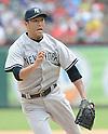 Hiroki Kuroda (Yankees),<br /> JULY 25, 2013 - MLB :<br /> Pitcher Hiroki Kuroda of the New York Yankees during the Major League Baseball game against the Texas Rangers at Rangers Ballpark in Arlington in Arlington, Texas, United States. (Photo by AFLO)