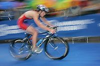 31 AUG 2007 - HAMBURG, GER - Jasmine Oeinck (USA) - Under 23 Womens World Triathlon Championships. (PHOTO (C) NIGEL FARROW)