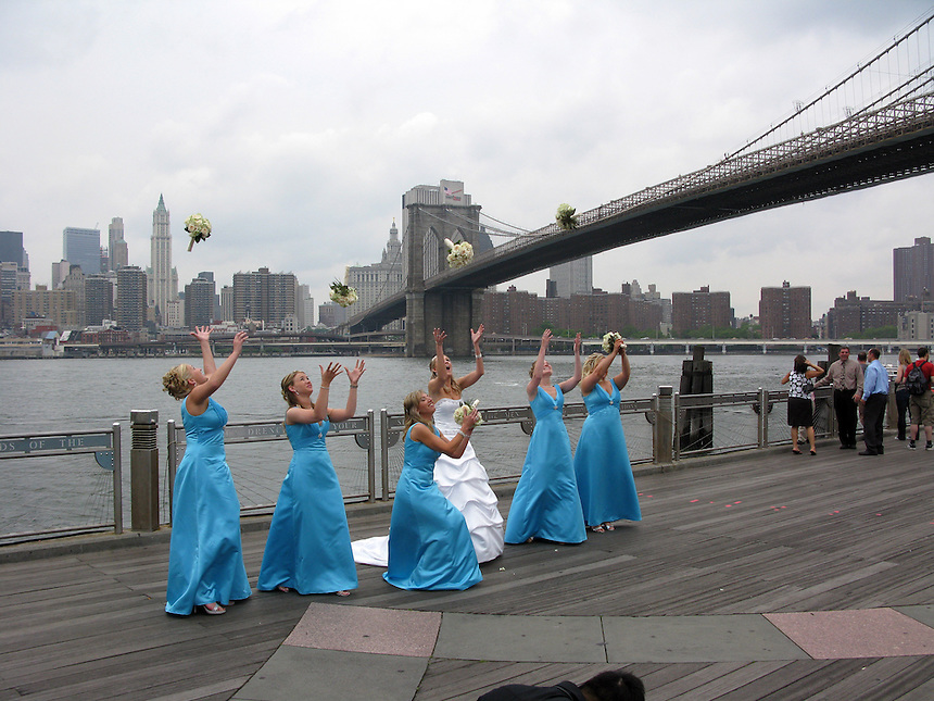 Wedding under the Brooklyn Bridge, 5/31/08.
