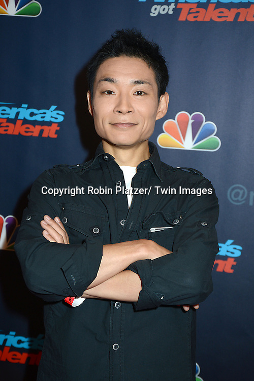 """Kenichi Ebina attends the """"America's Got Talent"""" pre show red carpet on September 17, 2013 at Radio City Music Hall in New York City."""