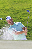 Gary Woodland (USA) chips from a bunker at the 6th green during Saturday's Round 3 of the Waste Management Phoenix Open 2018 held on the TPC Scottsdale Stadium Course, Scottsdale, Arizona, USA. 3rd February 2018.<br /> Picture: Eoin Clarke | Golffile<br /> <br /> <br /> All photos usage must carry mandatory copyright credit (&copy; Golffile | Eoin Clarke)