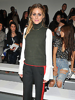 Olivia Palermo at the Mary Katrantzou LFW s/s 2017 catwalk show, BFC Show Space, Brewer Street Car Park, Brewer Street, London, England, UK, on Sunday 18 September 2016.<br /> CAP/CAN<br /> &copy;CAN/Capital Pictures /MediaPunch ***NORTH AND SOUTH AMERICAS ONLY***