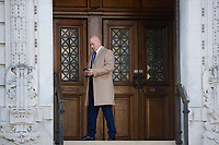 Pictured: Dave Wing outside Cardiff Crown Court. Monday 12 November 2018<br /> Re: Three men involved in an incident in Cardiff are on trial at Cardiff Crown Court.<br /> Earlier this year, criminal charges were dropped against former Wales rugby international Shane Williams.<br /> The former Ospreys winger had been charged with affray following an alleged incident in Cardiff city centre.<br /> A charge of affray has also been dropped against Shane Williams' brother, Dean Williams.<br /> Four other men, Haydn Morgan, 42, of Bridgend, Dean Flowers, 32, of Cardiff, Aled James, 26, of Ferndale and Dave Wing, 53, of Cardiff are charged with affray following the alleged incident on Great Western Lane on December 2, 2017.