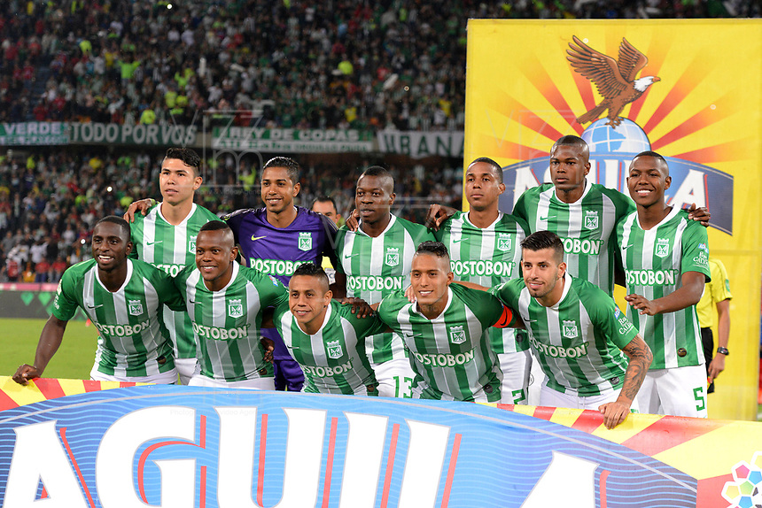 MEDELLÍN-COLOMBIA, 24-04-2019: Los jugadores de Atlético Nacional, posan para una foto, antes de partido de la fecha 16 entre Atlético Nacional y Deportivo Independiente Medellín, por la Liga Águila I 2019, jugado en el estadio Atanasio Girardot de la ciudad de Medellín. / The players of Atletico Nacional, pose for a photo, prior a match of the 16th date between Atletico Nacional and Deportivo Independiente Medellin, for the Aguila Leguaje I 2019 played at the Atanasio Girardot Stadium in Medellin city. / Photo: VizzorImage / León Monsalve / Cont.