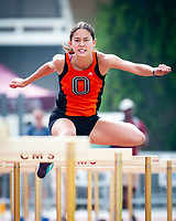 Naomi Miyamoto '21<br /> The Occidental College men's and women's track and field teams compete in the 2019 Southern California Intercollegiate Athletic Conference (SCIAC) Track and Field Championships at the Claremont-Mudd-Scripps Burns Track Complex in Claremont, Calif. on Sunday, April 28, 2019.<br /> After the two-day SCIAC Championships CMS scored 211.50 points, followed by Pomona-Pitzer (171.50), Redlands (114), Occidental (92.50), Whittier (57.50), La Verne (54), Cal Lutheran (48), Chapman (23) and Caltech (4).