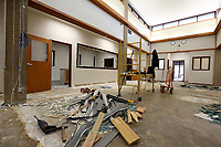 NWA Democrat-Gazette/DAVID GOTTSCHALK The interior of the former location of the Washington County Emergency Operations Center is visible Friday, March 1, 2019, in Fayetteville. The building is under renovation to be the Washington County Crisis Stabilization Unit.