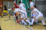 Almere - Zaalhockey  Amsterdam-Den Bosch (m) . strafcorner verdediging, uitlopen, .    TopsportCentrum Almere.    COPYRIGHT KOEN SUYK