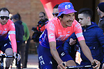 Lachlan Morton (AUS) EF Education First at sign on in Fortezza Medicea before the start of Strade Bianche 2019 running 184km from Siena to Siena, held over the white gravel roads of Tuscany, Italy. 9th March 2019.<br /> Picture: Eoin Clarke | Cyclefile<br /> <br /> <br /> All photos usage must carry mandatory copyright credit (&copy; Cyclefile | Eoin Clarke)