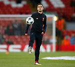 Philippe Coutinho of Liverpool warms up before the Champions League Group E match at the Anfield Stadium, Liverpool. Picture date 13th September 2017. Picture credit should read: Simon Bellis/Sportimage