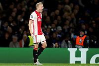 5th November 2019; Stamford Bridge, London, England; UEFA Champions League Football, Chelsea Football Club versus Ajax; Donny van de Beek of Ajax celebrates his goal for 1-4 in the 55th minute - Editorial Use