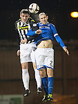 St Mirren v St Johnstone...25.03.14    SPFL<br /> Jason Naismith and Dave Mackay<br /> Picture by Graeme Hart.<br /> Copyright Perthshire Picture Agency<br /> Tel: 01738 623350  Mobile: 07990 594431