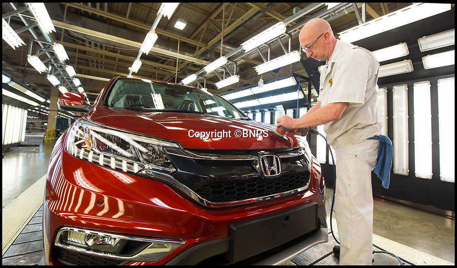 BNPS.co.uk (01202 558833)<br /> Pic: PhilYeomans/BNPS<br /> <br /> Final check department -  The Honda production line in Swindon in Wiltshire in 2016.<br /> <br /> Japanese car maker Honda is set to close its Swindon factory in 2022, putting 3,500 jobs at risk, it was claimed today.  <br /> <br /> Honda, Britain's fifth largest car producer, will announce the closure of its Wiltshire plant tomorrow according to Sky News.   <br /> <br /> The Swindon Honda branch employs 3,500 workers and is currently the firm's only factory inside the EU.