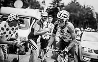 Jan Bakelants (BEL/AG2R-LaMondiale) up the final HC climb of the day: the Mont du Chat (HC/8.7km/10.3%)<br /> <br /> 104th Tour de France 2017<br /> Stage 9 - Nantua › Chambéry (181km)