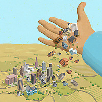 Big hand letting public buildings fall on city ExclusiveImage
