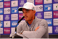 Rickie Fowler (USA) during the preview of the Aberdeen Standard Investments Scottish Open, Gullane Golf Club, Gullane, East Lothian, Scotland. 11/07/2018.<br /> Picture Fran Caffrey / Golffile.ie<br /> <br /> All photo usage must carry mandatory copyright credit (&copy; Golffile | Fran Caffrey)