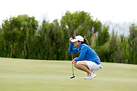 Leona Maguire (Ireland) lines up a putt on the second hole during the final round of the ShopRite LPGA Classic presented by Acer, Seaview Bay Club, Galloway, New Jersey, USA. 6/10/18.<br /> Picture: Golffile   Brian Spurlock<br /> <br /> <br /> All photo usage must carry mandatory copyright credit (&copy; Golffile   Brian Spurlock)