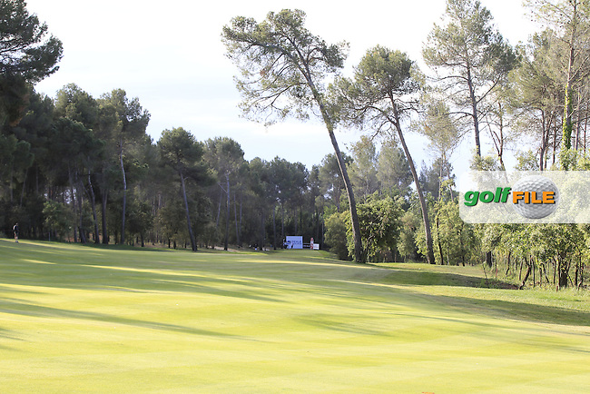 Looking down the 7th during Round 3 of the Open de Espana  in Club de Golf el Prat, Barcelona on Saturday 16th May 2015.<br /> Picture:  Thos Caffrey / www.golffile.ie