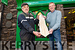 John O'Connor and Jim Long from Ventry Post Office with salted ling for Christmas.