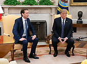 United States President Donald J. Trump meets Federal Chancellor Sebastian Kurz of the Republic of Austria in the Oval Office of the White House in Washington, DC on Wednesday, February 20, 2019.<br /> Credit: Chris Kleponis / Pool via CNP