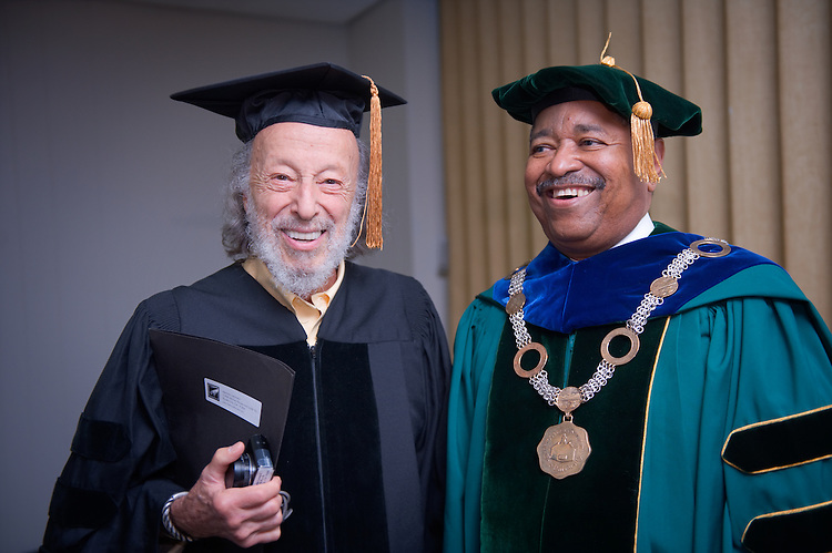 Undergraduate Commencement: Ohio University 2009 ..Platform Party.Left to right.  Herman Leonard, Dr. McDavis