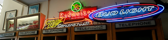 Neon signs at Philippe's