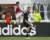 of D.C. United of Chivas USA during an MLS match at RFK Stadium, on May 29 2010 in Washington DC. United won 3-2.