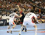 10.01.2019, Mercedes Benz Arena, Berlin, GER, Handball WM 2019, Deutschland vs. Korea, im Bild <br /> Paul Drux (GER #95), KU Changeun (Korea #88)<br />      <br /> Foto © nordphoto / Engler