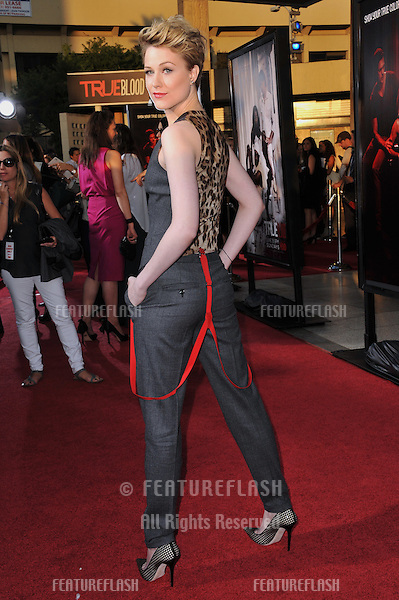 "Evan Rachel Wood at the Los Angeles premiere of the fourth season of HBO's ""True Blood"" at the Cinerama Dome, Hollywood..June 21, 2011  Los Angeles, CA.Picture: Paul Smith / Featureflash"