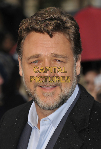 Russell Crowe<br /> 'Man Of Steel' UK film premiere, Empire cinema, Leicester Square, London, England.<br /> 12th June 2013<br /> headshot portrait black blue shirt beard facial hair<br /> CAP/DS<br /> &copy;Dudley Smith/Capital Pictures