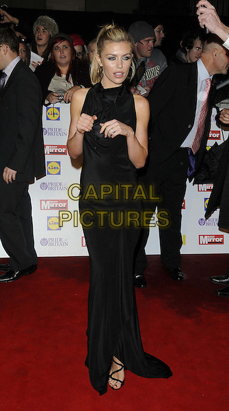 Abigail Clancy.The Pride of Britain Awards 2012, Grosvenor House Hotel, Park Lane, London, England..October 29th, 2012.full length abbey black dress sleeveless hands arms.CAP/CAN.©Can Nguyen/Capital Pictures.
