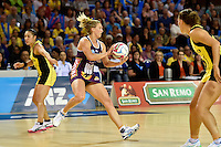 Gabrielle Simpson in action during the ANZ Championship - Mojo Pulse v Queensland Firebirds at Te Rauparaha Arena, Porirua, New Zealand on Sunday 8 March 2015. <br /> Photo by Masanori Udagawa. <br /> www.photowellington.photoshelter.com.