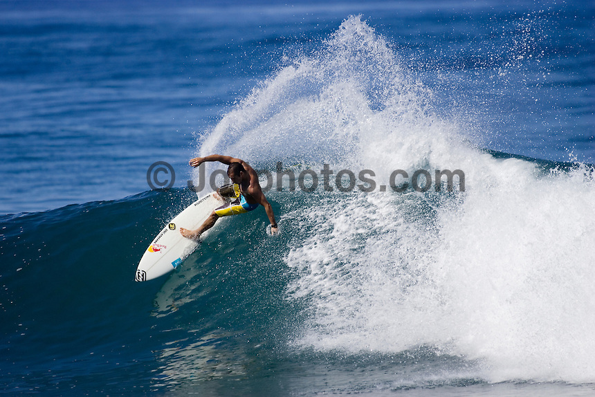 TIAGO PIRES (PORTUGAL) surfing at Rocky Point, North Shore,Oahu, Hawaii.  Photo: Joli