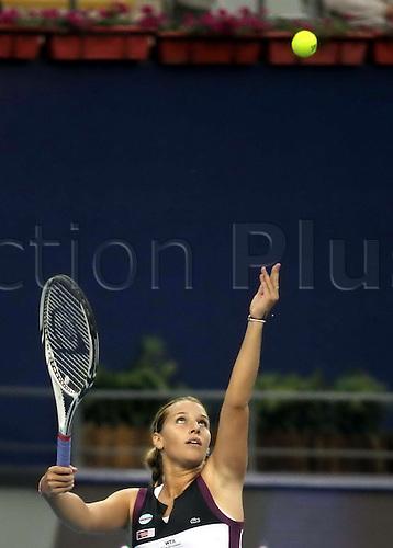 Oct 06, 2011; Beijing, CHINA; Flavia Pennetta of Italy defeats Dominika Cibulkova of Slovakia 2:1 in the third round of women's singles at the 2011 China Open.