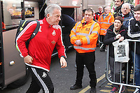 Swansea First Team Coach Alan Curtis arrives before the Barclays Premier League match between AFC Bournemouth and Swansea City played at The Vitality Stadium, Bournemouth on March 12th 2016