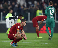 Calcio, Coppa Italia round 8 : Juventus - AS Roma, Turin, Allianz Stadium, January 22, 2020.<br /> Roma's players at the end of the Italian Cup football round 8 match between Juventus and Roma at the Allianz stadium in Turin, January 22, 2020.<br /> UPDATE IMAGES PRESS/Isabella Bonotto