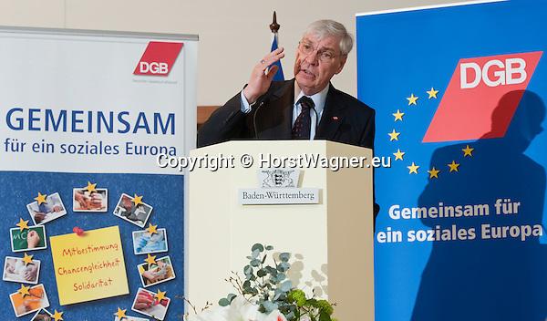 Brussels-Belgium - April 24, 2013 -- 'A Marshall Plan for Europe', a presentation / speech by Michael SOMMER, President of the German Trade Union Confederation (DGB, Deutscher Gewerkschaftsbund), at the Representation of Baden-Württemberg to the EU -- Photo: © HorstWagner.eu