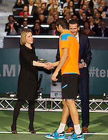 Rotterdam, The Netherlands. 16.02.2014.  Marin Cilic(KRO) at the prizegiving  ABN AMRO World tennis Tournament of 2014<br /> Photo:Tennisimages/Henk Koster
