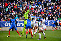 Harrison, N.J. - Sunday March 04, 2018: Sarah Bouhaddi during a 2018 SheBelieves Cup match between the women's national teams of the United States (USA) and France (FRA) at Red Bull Arena.