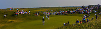 The crowd surround the 16th green during Round 4 of the East of Ireland Amateur Open Championship sponsored by City North Hotel at Co. Louth Golf club in Baltray on Monday 6th June 2016.<br /> Photo by: Golffile   Thos Caffrey