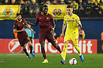 Samuel Castillejo Azuaga of Villarreal CF fights for the ball with Antonio Rüdiger of AS Roma during the match Villarreal CF vs AS Roma, part of the UEFA Europa League 2016-17 Round of 32 at the Estadio de la Cerámica on 16 February 2017 in Villarreal, Spain. Photo by Maria Jose Segovia Carmona / Power Sport Images