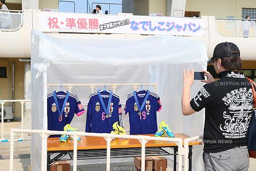 General view, <br /> JULY 12, 2015 - Football / Soccer : <br /> 2015 Plenus Nadeshiko League Division 1 <br /> between NTV Beleza - AS Elfen Saitama <br /> at Hitachinaka Stadium, Ibaraki, Japan. <br /> (Photo by YUTAKA/AFLO SPORT)