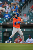 Syracuse Mets Luis Guillorme (13) bats during an International League game against the Buffalo Bisons on June 29, 2019 at Sahlen Field in Buffalo, New York.  Buffalo defeated Syracuse 9-3.  (Mike Janes/Four Seam Images)