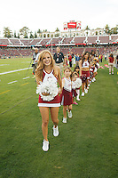 Stanford-October 10, 2014: Cheerleader clinic before the Stanford vs. Washington State game Friday night at Stanford Stadium.<br /> <br /> The Cardinal defeated the Cougars 34-17.