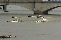 London, GREAT BRITAIN,  during the 2007 Boat Race between Putney to Mortlake, on  Sat. April 7th. England [Photo Patrick White/Intersport Images] Varsity Boat Race, Rowing Course: River Thames, Championship course, Putney to Mortlake 4.25 Miles,