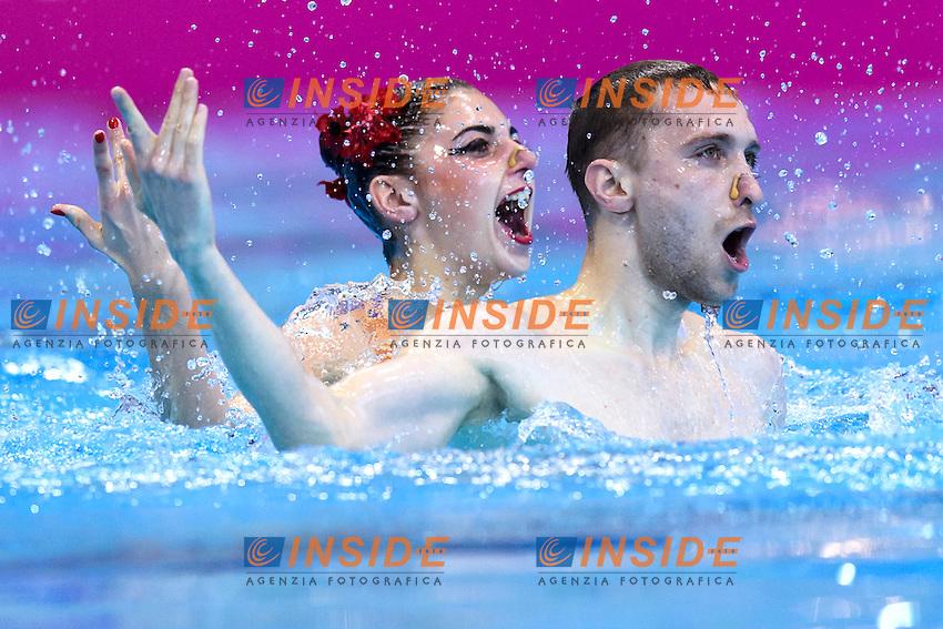 REZNIK Kateryna / TIMOFEYEV Anton UKR Ukraine <br /> Mixed Duet Final <br /> London, Queen Elizabeth II Olympic Park Pool <br /> LEN 2016 European Aquatics Elite Championships <br /> Synchronized Swimming <br /> Day 05 13-05-2016<br /> Photo Andrea Staccioli/Deepbluemedia/Insidefoto