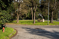 Outdoor activities allowed in proximity of home...<br /> <br /> Rome, 18/03/2020. Rome's Olympic Village district under the Italian Government lockdown for the Outbreak of the Coronavirus SARS-CoV-2 - COVID-19. On the 22nd March, the Italian PM Giuseppe Conte signed a new Decree Law which suspends non-essential industry productions and contains the list of allowed working activities, which includes Pharmaceutical & food Industry, oil & gas extraction, clothes & fabric, tobacco, transports, postal & banking services (timetables & number of agencies reduced), delivery, security, hotels, communication & info services, architecture & engineer, IT manufacturers & shops, call centers, domestic personnel (1.).<br /> Updates: Italy: 22.03.20, 6:00PM: 46.638 positive cases; 7.024 recovered; 5.476 died.<br /> <br /> The Rome's Olympic Village (1957-1960) was designed by: V. Cafiero, A. Libera, A. Luccichenti, V. Monaco, L. Moretti. «Built to host the approximately 8,000 athletes involved in the 1960 Olympic Games, Rome's Olympic Village is a residential complex located between Via Flaminia, the slopes of Villa Glori and Monti Parioli. It was converted into public housing [6500 inhabitants, ndr] at the end of the sporting event. The intervention is an example of organic settlement, characterized by a strong formal homogeneity, consistent with the Modern Movement's principles of urbanism. The different architectural structures are made uniform by the use of some common elements: the pilotis, ribbon windows, concrete stringcourses, and yellow brick curtain covering. At the center of the neighborhood, the Corso Francia viaduct - a road bridge about one kilometer long - was built by Pier Luigi Nervi […]» (2.).<br /> <br /> Info about COVID-19 in Italy: http://bit.do/fzRVu (ITA) - http://bit.do/fzRV5 (ENG)<br /> 1. March 22nd Decree Law http://bit.do/fFwJn (ITA)<br /> 2. (Atlantearchitetture.beniculturali.it MiBACT, ITA - ENG) http://bit.do/fFw3H<br /> 12.03.20 Rome's Lockdown http