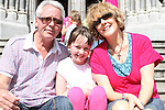 Kate, Al and Ella Dooley at the Food Festival on West Street...Picture Jenny Matthews/Newsfile.ie