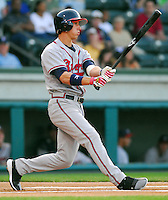 13 April 2007: Jordan Schafer of the Rome Braves, Class A affiliate of the Atlanta Braves, during a game against the Greenville Drive at West End Field, Greenville, S.C. Photo by:  Tom Priddy/Four Seam Images