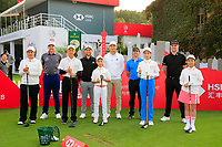 China Golf Association junior members with, Ian Poulter (ENG), Xander Schauffele (USA), Haotong Li (CHN) Rory McIlroy (NIR) and Justin Rose (ENG) ahead of the WGC HSBC Champions 2018, Sheshan Golf Club, Shanghai, China. 29/10/2019.<br /> Picture Fran Caffrey / Golffile.ie<br /> <br /> All photo usage must carry mandatory copyright credit (© Golffile | Fran Caffrey)